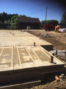 Block & beam laid at Cob Cottage