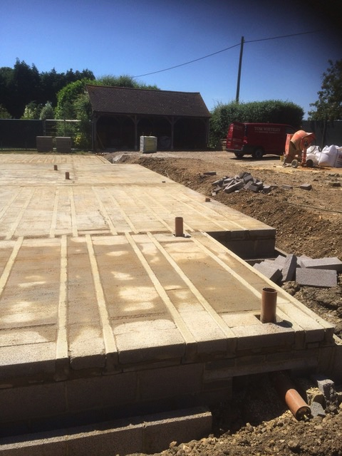 Block & beam laid at Cobb Cottage